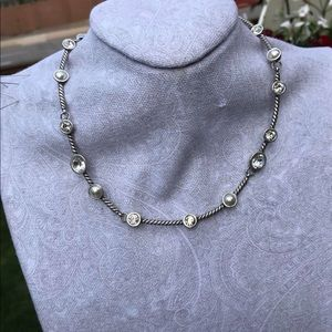 Brighton crystal and faux pearl necklace. NWOT.